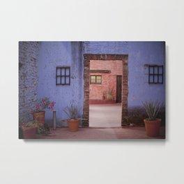 Hacienda Door Metal Print