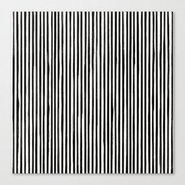 Skinny Stroke Vertical Black on Off White Canvas Print
