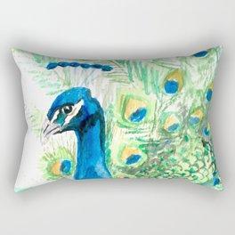 Flaunting his feathers Rectangular Pillow