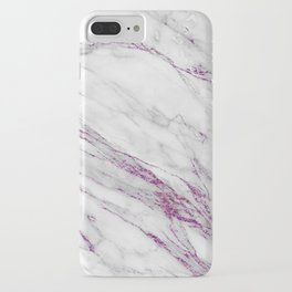 Gray and Ultra Violet Marble Agate iPhone Case