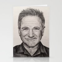 robin williams Stationery Cards featuring Robin Williams by Lindsay Hall
