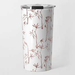 Trendy faux gold modern bamboo trees floral Travel Mug