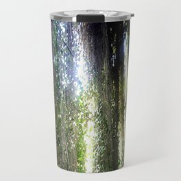 Inside a cave, looking out! Travel Mug