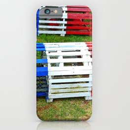 Acadian Lobster Traps iPhone Case