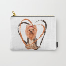 Cute Yorkshire Terrier Carry-All Pouch