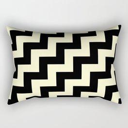 Black and Cream Yellow Steps RTL Rectangular Pillow