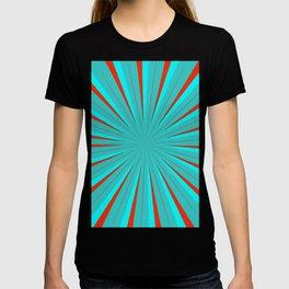 Sparkle Neon Aqua Turquoise Red T-shirt