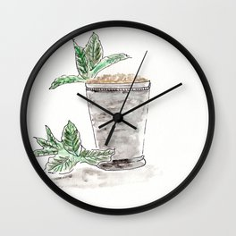 Mint Julep, Kentucky Derby, Cocktail, Drink, Southern Wall Clock