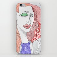 polka dot iPhone & iPod Skins featuring POLKA DOT by The Bravo Sisters Art