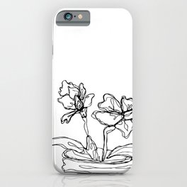 Mason Jar Flowers iPhone Case