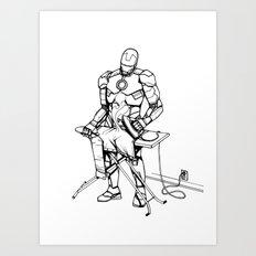 Iron(ing) Man Art Print