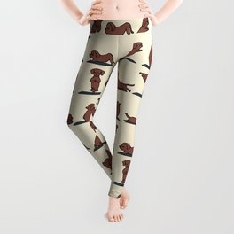 Dachshund yoga Leggings