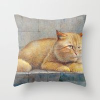 ginger Throw Pillows featuring Ginger by irshi