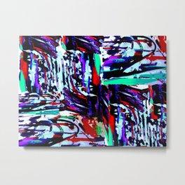 Stress Painting Metal Print