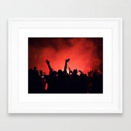 Barcelona party Framed Art Print