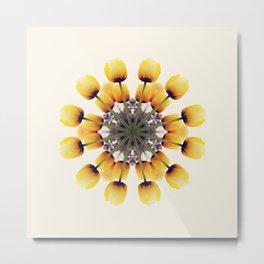 Tulips Mandala Metal Print