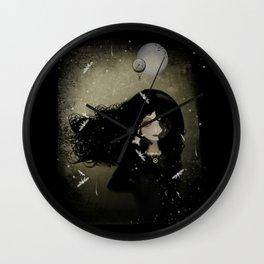 Dark Goth Girl Steampunk Art Steampunk Enigma Wall Clock