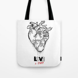 Heart Of Hearts: Outline & Stuff Tote Bag