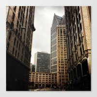 detroit Canvas Prints featuring Detroit by Christina Fehan