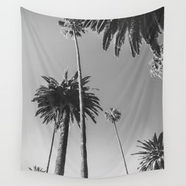 Palm Trees (Black and White) Wall Tapestry