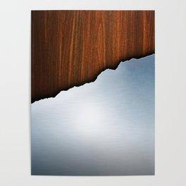Wooden Brushed Metal Poster