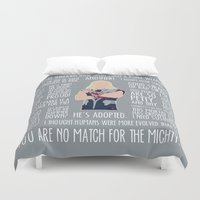 thor Duvet Covers featuring Thor by MacGuffin Designs