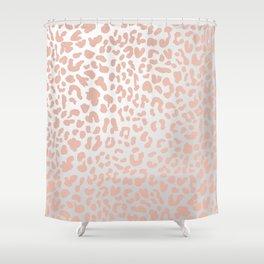 Rose Gold Leopard Spots Shower Curtain