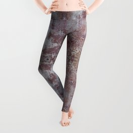 Red and White Concrete Wall Leggings