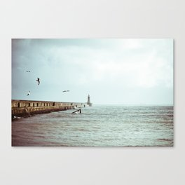 Sunny Pier Canvas Print
