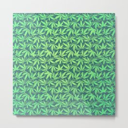 Cannabis / Hemp / 420 / Marijuana  - Pattern Metal Print