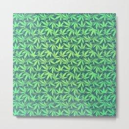 Cannabis / Hemp / 420 / Marijuana  - Pattern Metal Print