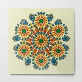 Amazement Mandala - The Mandala Collection Metal Print