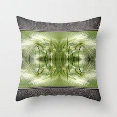 Hordeum Jubatum Abstract Throw Pillow