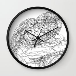 make-out? (B & W) Wall Clock