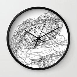 make-out? (B & W) Wall Clock