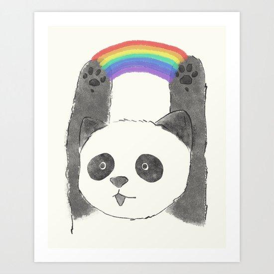 panda beam Art Print