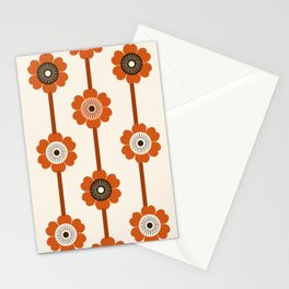 Foxy - 70s style throwback retro flowers floral pattern minimal decor art 1970's Stationery Cards