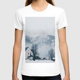 Christmas Winter Church (Color) T-shirt