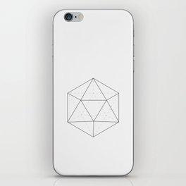Black & white Icosahedron iPhone Skin