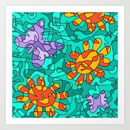 Magical Mosaic Art Print