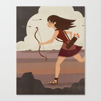archer Canvas Prints featuring Archer by emilydove
