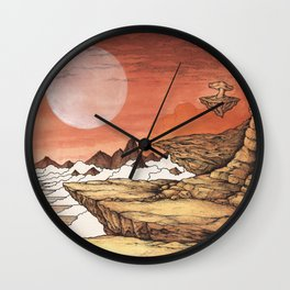 TIME WORN ETHER Wall Clock