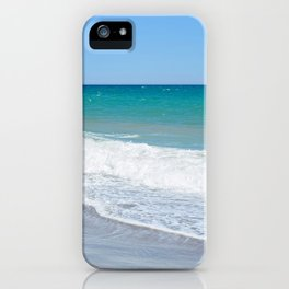Sandy beach and Mediterranean sea iPhone Case
