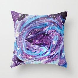 Galaxy of Spirals Throw Pillow