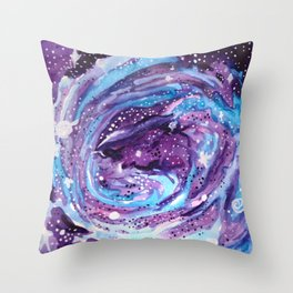Galaxy of Spirals Throw Pillow