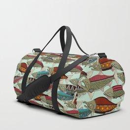 Alaskan salmon mint Duffle Bag
