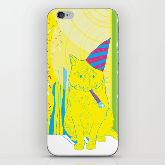 Party Cat iPhone & iPod Skin