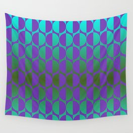 1974, violet and green Wall Tapestry