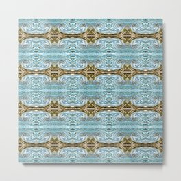 166 - water and sand abstract pattern Metal Print