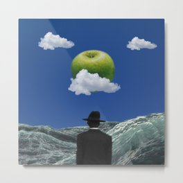 Apple Magritte Metal Print